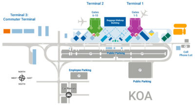 Kona airport map