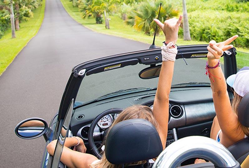 Viewing map in Hawaii car rental
