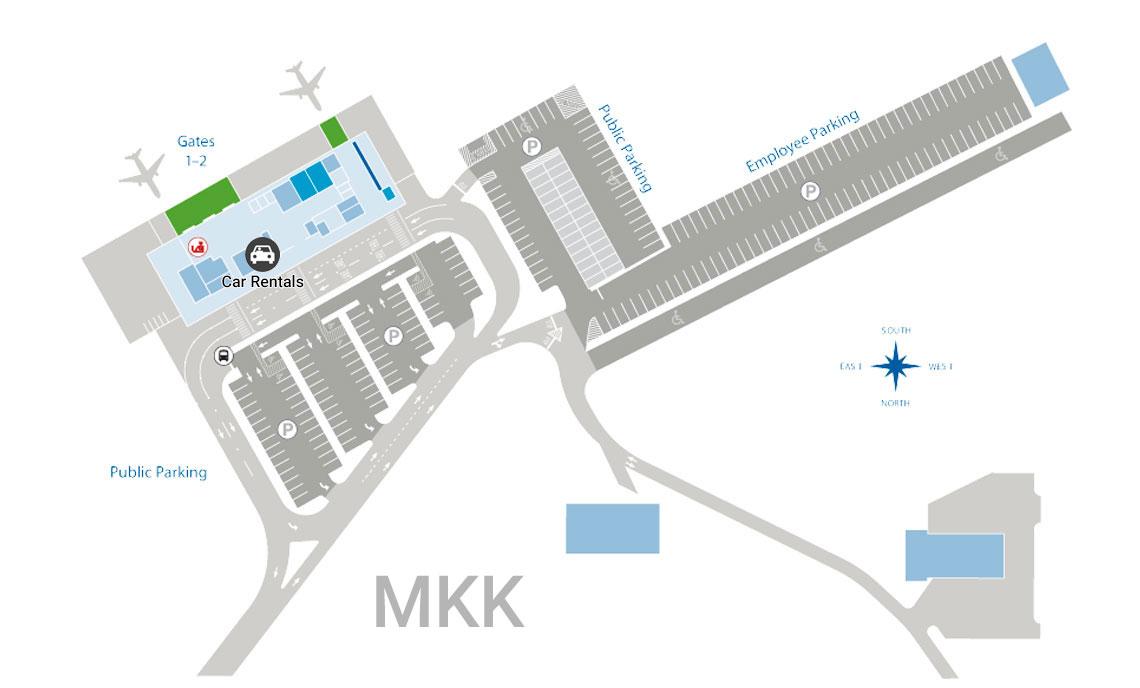 Molokai airport map